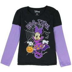 Dress your little one in this super-cute Disney Minnie long sleeve shirt for toddler girls with hearts all-over. Available in size only. Disney Toddler Girls Minnie Mouse Hearts Long Sleeve Shirt in Gray in size Black Long Sleeve Shirt, Long Sleeve Shirts, Toddler Girl Halloween, Minnie Mouse, Purple Halloween, Halloween Outfits, Halloween Clothes, Halloween Shirt, Toddler Girl Outfits
