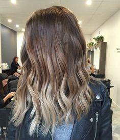 Sombre with mid-length hair