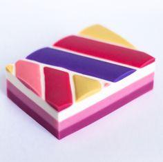 """handmade soap """"Strawberry pie"""", by bashkinaolga"""