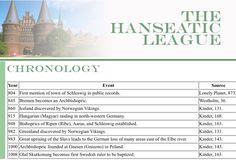 Chronology of Hanseatic League