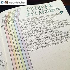 Show me your planner. I could honestly repost everything @nerdy.teacher does. You MUST check out her account. I chose this picture because I love the Alastair method for future planning too. And it's so colorful! . ・・・ I tried the Calendex idea via @boho.berry, but I like the Alistair method used by @passion.themed.life. I know I'll start a new #bujo for school in August, but I figured this might work for now. Besides...rainbow