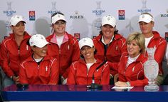 Juli Inkster USA Solheim Cup Team Captain Beth Daniel (R) jokes with her Captain's picks Michelle Wie (L) and Juli Inkster at a Press Conference to announce the teams for the 2009 Solheim Cup following the final round of the 2009 Ricoh Women's British Open Championship held at Royal Lytham St Annes Golf Club, on August 2, 2009 in Lytham St Annes, England. #SC13