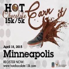 Hot Chocolate 15K/5K is headed back to Minneapolis on April 18th, 2015, 7:35 am to 11:35 am with Tons of chocolate, a beautiful course through downtown, and killer goodie bag swag make this America's Sweetest Race. Event starts from: McPhail Center for Music, 501 South 2nd Street, Minneapolis, MN, 55401, Dt and time: Saturday April 18, 2015 at 7:35 am to 11:35 am, Price: 5k: $42.00, 15k: $62.00