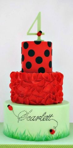 Have a BIG bday coming up for a special young lady.) Ladybug, garden cake Simple Cake for everyday