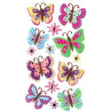 Jolee's Boutique Paisley Butterfly Stickers