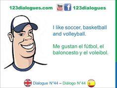Dialogue 44 Diálogo 44 English Spanish Inglés Español - Sports Hobbies - Deportes Pasatiempos - Lingoacademy.TV