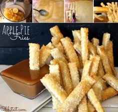 How to Make Sweet Sticks of Apple Pie Fries