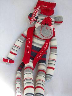 Sock Monkey Doll Graduation Plush Toy  by AsYouWishCreations4u, $40.00