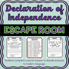 Discover recipes, home ideas, style inspiration and other ideas to try. Declaration Of Independence Quotes, Modern Meaning, Pearl Harbor Day, Growth Mindset Posters, Trail Of Tears, Teacher Boards, Decoding, Escape Room, Declaration Of Independence