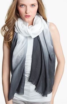 92c9d4cb527c Armani Collezioni Dégradé Scarf available at  Nordstrom Ways To Wear A  Scarf, How To