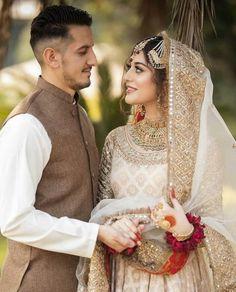 Asian Bridal Dresses, Indian Dresses, Indian Outfits, Party Wear Dresses, Wedding Dresses, Pakistani Bridal Makeup, Nikkah Dress, Desi Wedding, Modest Dresses