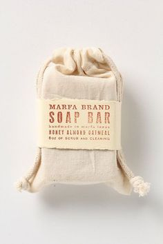 Marfa Brand Soap Bar #anthropologie  made by my friend, the other Ginger...this is wonderful soap!!!