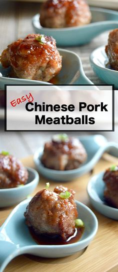 Chinese Pork Meatballs (Char Siew style) Chinese Pork meatballs: Char Seiw like charring on the edges with flavors hitting notes of sweet and salty in each that are ideal for a delicious appetizer in 20 minutes. Chinese Appetizers, Yummy Appetizers, Appetizer Recipes, Meatball Appetizers, Chinese Meatballs, Chinese Pork, Asian Pork, Albondigas, Pork Dishes