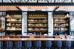 The Optimist Restaurant by Smith Hanes Studio - Retailand Restaurant Design Seafood Restaurant, Restaurant Design, Retail Solutions, Fish House, Floor To Ceiling Windows, White Tiles, Liquor Cabinet, Design Inspiration, Studio