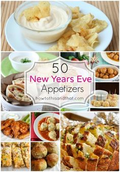 50 Must Serve New Year's Eve Appetizers & Party Food. A collaboration of delicious party appetizer recipes good for any occasion! New Year's Eve Appetizers, Finger Food Appetizers, Yummy Appetizers, Appetizer Recipes, Snack Recipes, Cooking Recipes, Appetizer Ideas, Cooking Tips, New Year's Food