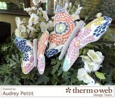 June Bug Butterflies with Dear Stella Fabrics - Therm O Web Easy Sewing Projects, Sewing Projects For Beginners, Softie Pattern, Free Pattern, June Bug, Sewing Toys, Softies, Bugs, Butterfly