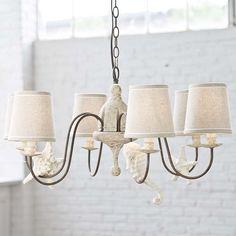 Regina Andrews chandelier with shells small  405-2006