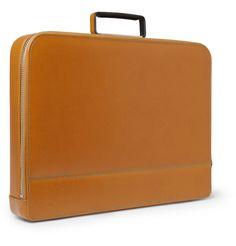 Valextra Premier Cross-Grain Leather Briefcase | MR PORTER