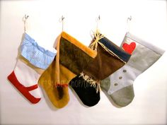 Christmas Stockings set of 4 Wizard of Oz by TheCommonRoom on Etsy, $75.00