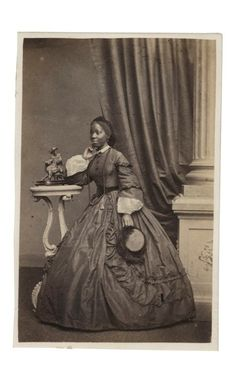 Sarah Forbes Bonetta, Brighton, 1862.   Sara Forbes Bonetta was captured aged five by slave raiders in west Africa, rescued by Captain Frederick E Forbes, then presented as a 'gift' to Queen Victoria.  Photograph: Courtesy of Paul Frecker collection/The Library of Nineteenth-Century Photography.