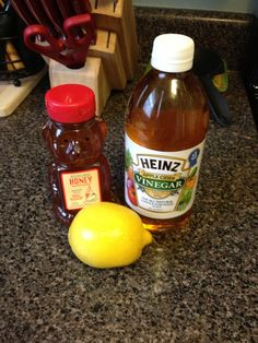 "Natural ""homemade"" detox/ cleanse. 1T honey, 1T lemon juice, 1T Apple Cider Vinegar, 1 qt water, sip throughout the morning for 1 week."