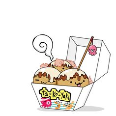 'kawaii' takoyaki too cute to eat. . . ,must resist. . .!
