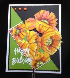 Marker colored poppies. Handmade Greetings, Greeting Cards Handmade, Markers, Poppies, Painting, Color, Design, Art, Art Background