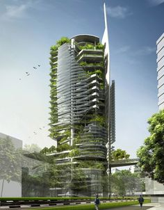The EDITT Tower designed by TR Hamzah & Yeang // Singapore