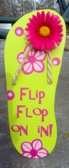 Flip Flop Sign by atmiles on Etsy, $35.00