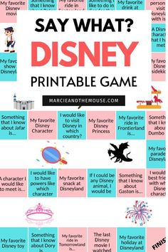 Disney Games For Kids, Disney Fun, Disney Trivia, Disney Facts, Family Fun Games, Family Fun Night, Disney Printables, Free Printables, Trip Countdown