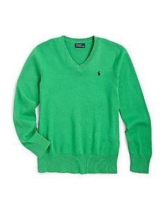 Ralph Lauren Boy's Classic V-Neck Sweater