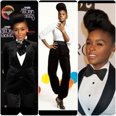 Black and White Suits Ain't No Need For No Other Color ! Janelle Monae
