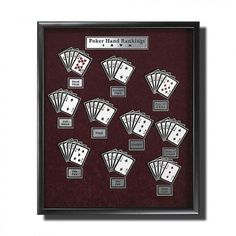 Poker Hands Wall Art DIY Projects for Game Room | http://diyready.com/diy-projects-for-your-game-room/