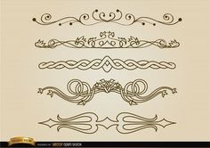 Set with 5 decorative division lines. They are classy, stylish, and elegant, perfect for websites, blogs or ads. Under Commons 4.0. Attribution License.