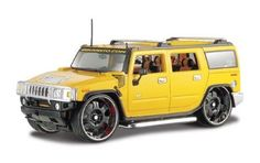 2003 Hummer H2 SUV 1/27 Yellow
