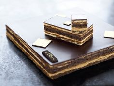 Gateau Opera - one of my favourite cakes.  Love the history behind its creation and its name.