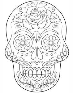 Free Printable Sugar Skull Coloring Sheets Sugar Skulls Coloring