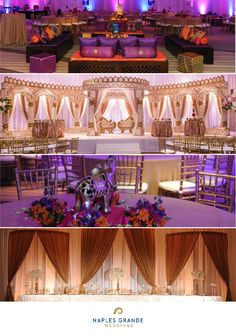 The Dream Wedding Venue for Indian Weddings Purple Wedding, Wedding Colors, Wedding Flowers, Dream Wedding, Wedding Day, Head Table Wedding Decorations, Wedding Themes, Wedding Venues, Wedding Ceremony