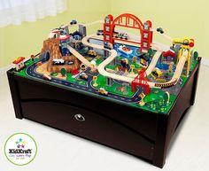Metropolis Train Table & Set