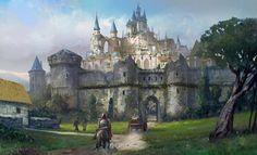 castle Fantasy castle Fantasy city Fantasy landscape