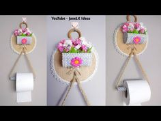 4 ideas for storing toilet paper 5 Min Crafts, Diy Crafts For Gifts, Diy Home Crafts, Diy Arts And Crafts, Easy Crafts, Cardboard Box Crafts, Paper Crafts, Plastic Bottle Flowers, Bathroom Crafts