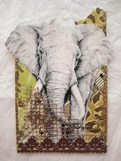 Vintage Elephant ATC