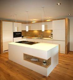 Modern kitchens at Gfrerer Kitchens in Goldegg, Salzburg - küche - Cozinha Contemporary Kitchen Interior, Modern Kitchen Interiors, Modern Kitchen Design, Interior Design Kitchen, Modern Kitchens, Kitchen Sets, Home Decor Kitchen, Home Kitchens, Kitchen Island
