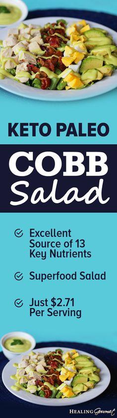 A quick and delicious Keto Paleo Cobb Salad