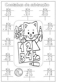 Number Writing Practice, Writing Numbers, Kids Class, Math For Kids, Addition And Subtraction Worksheets, 1st Grade Worksheets, Tracing Letters, Animal Alphabet, Math Classroom