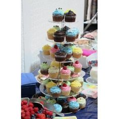 6 Tier Circle 5mm Thick Cupcake Wedding Party Cup Cake Fairy Display Stand by Classikool®: Amazon.co.uk: Kitchen & Home