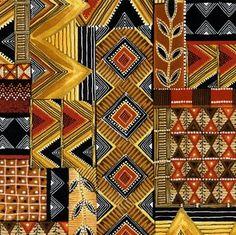 Shop | Category: Zuri | Product: Zuri African Patchwork Gold