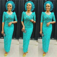 Aso Ebi Styles 2016: Lace Styles For Wedding Guest http://www.dezangozone.com/2016/05/aso-ebi-styles-2016-lace-styles-for.html