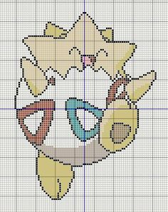 Buzy Bobbins: Togepi - Pokemon cross stitch design