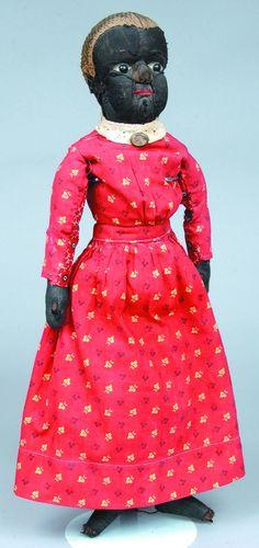 Good Early Beecher-Type Black Americana Cloth Dol